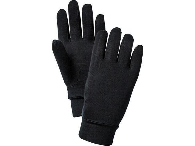 Hestra Silk Liner Active Guantes 5 dedos, black
